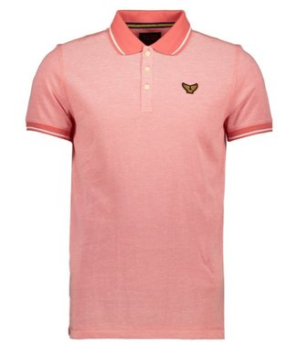 PME Legend Short sleeve polo Two tone pique Spiced Coral PPSS202866
