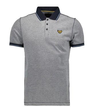 PME Legend Short sleeve polo Two tone pique Dark Sapphire PPSS202866