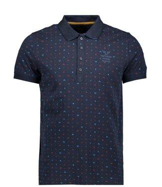 PME Legend Short sleeve polo yarn jersey Dark Sapphire PPSS202882