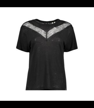 Superdry Chevron lace tee zwart W8010131A