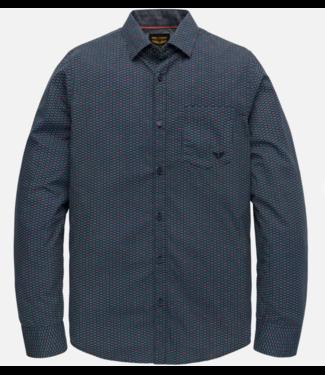 PME Legend Long Sleeve Shirt Poplin with all- Dark Sapphire PSI202201