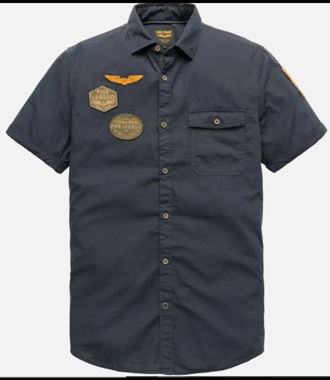 PME Legend Short Sleeve Shirt Cotton slub fab Dark Sapphire PSIS202263