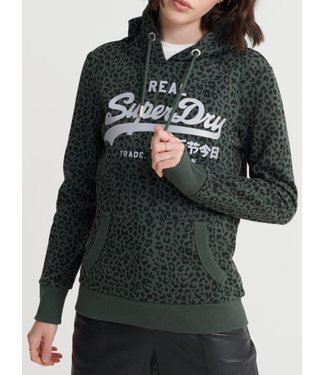 Superdry Vl Animal entry hood groen W2010002B