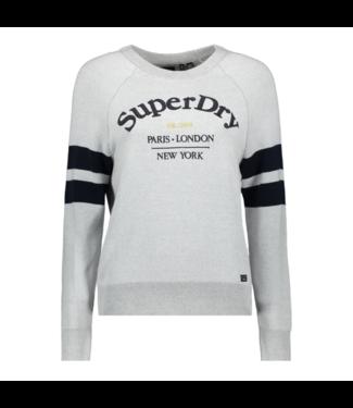 Superdry Amy logo knit grijs W6110032A