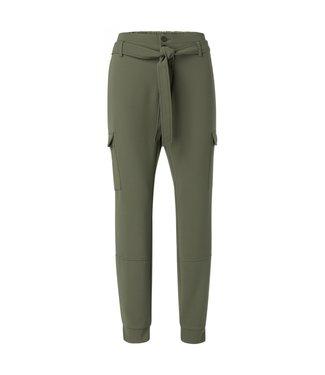 Yaya Belted cargo jogger pants DARK OLIVE 1201101-013