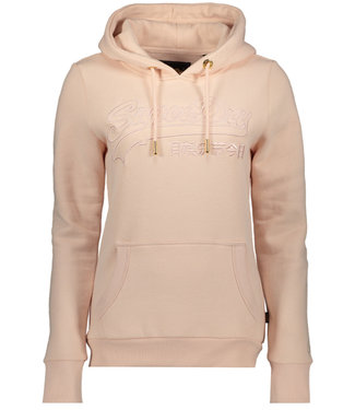 Superdry Vl emb outline entry hood roze W2010080B