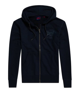 Superdry Vk tonal injection ziphood donkerblauw M2010155B