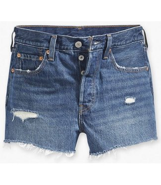 Levi's 501 High-Waisted Short blauw 56327-0018