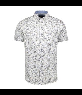 Vanguard Short Sleeve Shirt Print on poplin Bright White VSIS202224
