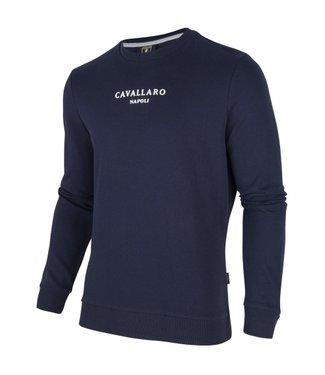 Cavallaro Paolo logo sweat donkerblauw 2001004