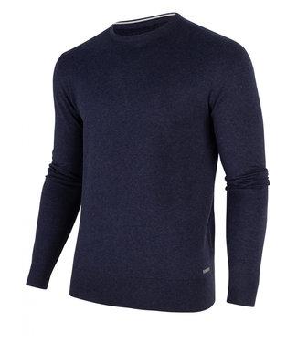 Cavallaro Tomasso r-neck pullover donkerblauw 1801001