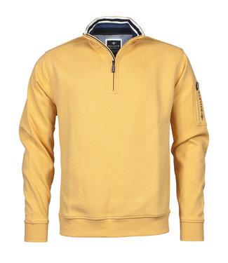 Baileys Sweatshirt shirt style zip geel 103146