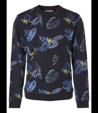 No Excess Sweater, R-Neck, AO Printed, stretch night Print 95110101