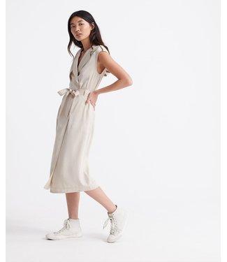 Superdry Desert wrap dress zand W8010101A