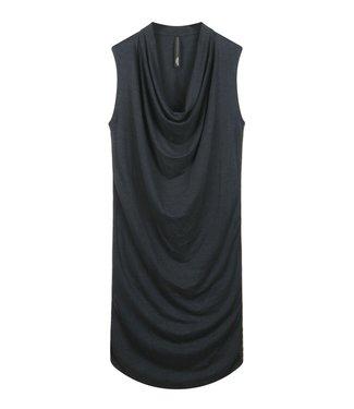 10Days Waterfall dress linen grijs 20-301-0202