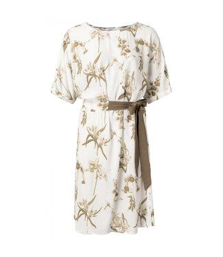 Yaya Belted dress BLANC DE BLANC 1801225-015
