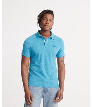 Superdry Classic pique s/s polo lichtblauw M1110004A