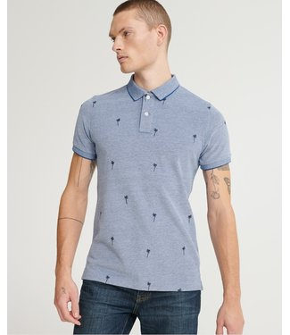Superdry Classic aoe pique s/s polo blauw M1110003A