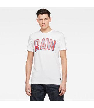 G-Star Multi layer Raw slim s/s wit D17144-B770-110