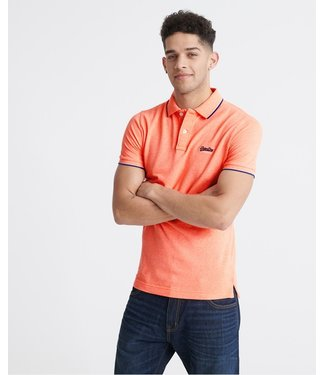 Superdry Poolside pique s/s polo oranje M1110013A