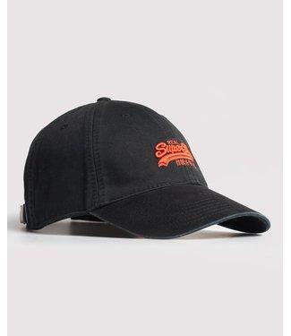Superdry Orange label cap zwart M9010006A