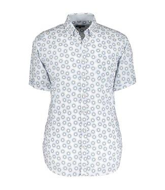 State of Art Shirt Printed Poplin kobalt 264-10403-5721