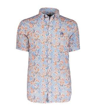 State of Art Shirt Printed Poplin oranje 264-10355-2857