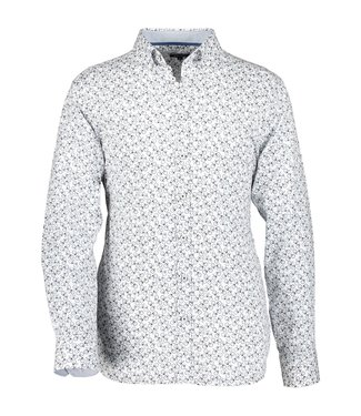 State of Art Shirt Printed Twill kobalt 214-10301-5784
