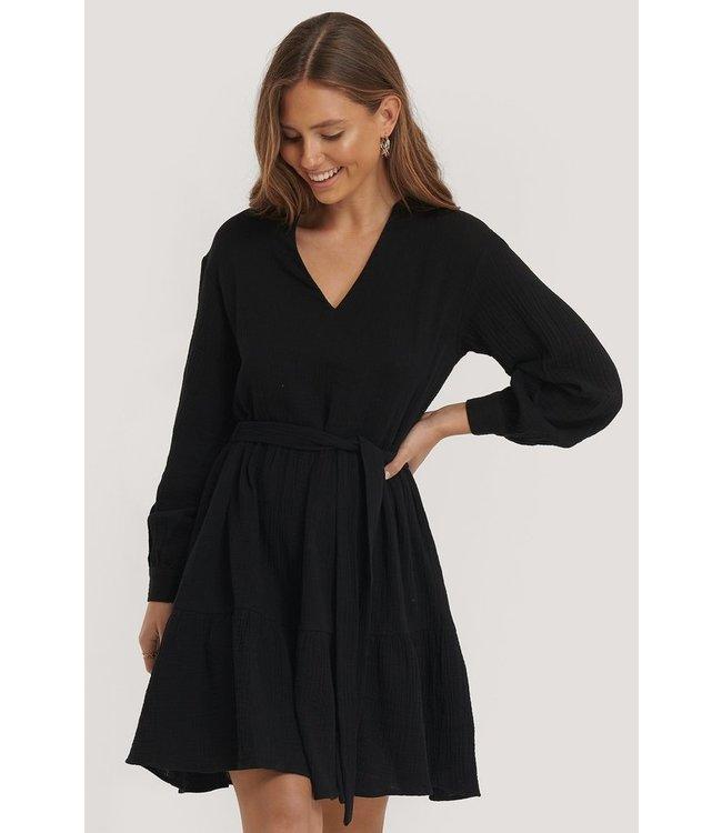 NA-KD V-neck dress zwart 1100-002154