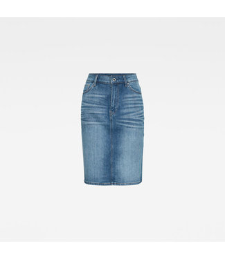 G-Star 3301 pencil skirt blauw D17225-C298-B377