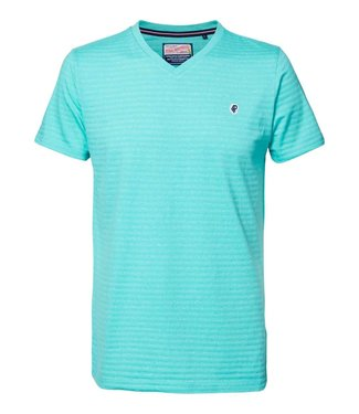 Petrol Industries T-shirt v-neck lichtgroen M-2000-TSV733