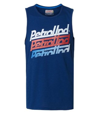 Petrol Industries Singlet r-neck blauw M-2000-SLR750