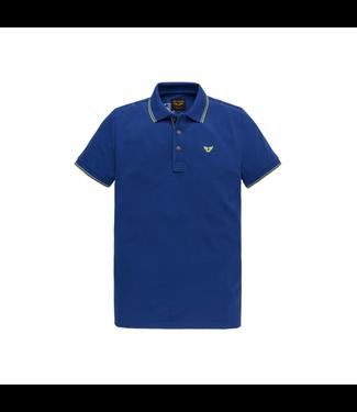 PME Legend Short sleeve polo stretch pique Mazarine Blue PPSS204883