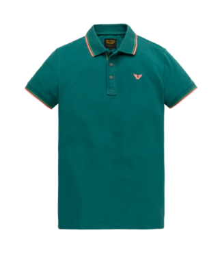 PME Legend Short sleeve polo stretch pique Colonial Blue PPSS204883