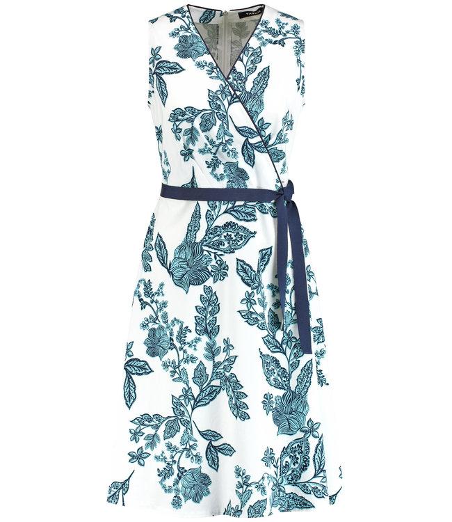 Taifun DRESS WOVEN FABRIC OFFWHITE PATTERNED 580024-11120