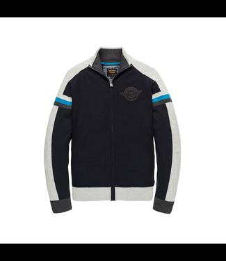 PME Legend Zip jacket Cotton knit Dark Sapphire PKC201351
