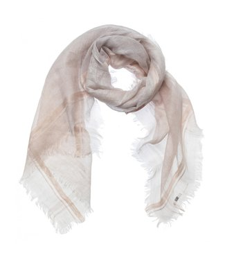 Yaya Linen scarf with two color BLANC DE BLANC 130186-015