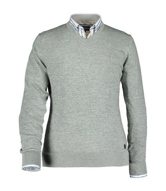 State of Art Pullover V-Neck Plai mosgroen 12110192