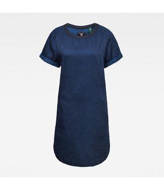 G-Star Woven tee dress blauw D17078-A785-082
