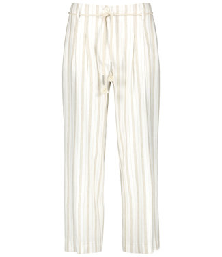 Taifun CROP LEISURE TROUSER OFFWHITE PATTERNED 520091-11158