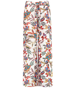 Taifun TROUSERS CLOTH  LONG:WIDE LEG H OFFWHITE PATTERNED 520077-11176