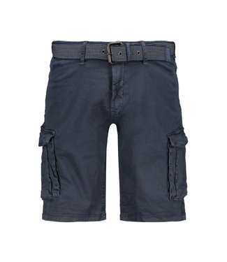 No Excess Twill stretch shorts donkerblauw 958190389