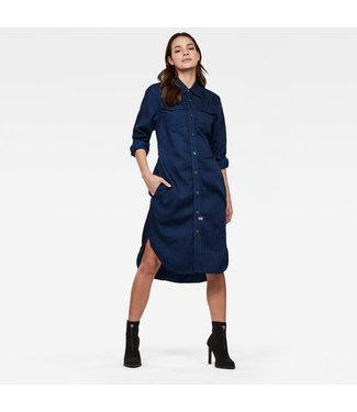 G-Star Tacoma shirt dress l/s blauw D17089-A785-082