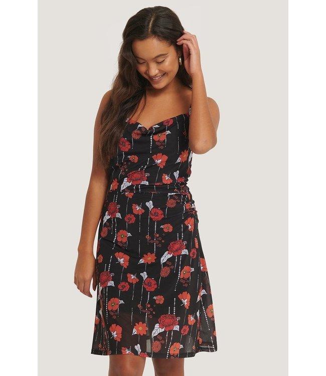 NA-KD Flowy mini dress zwart 1018-005270