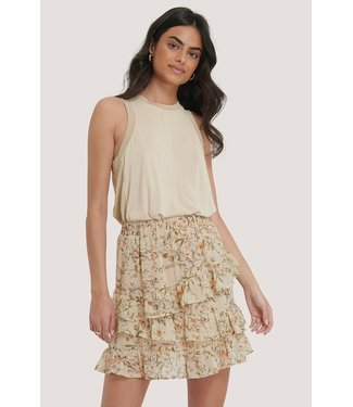 NA-KD Flowy panel mini skirt off white 1014-000941