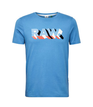 G-Star RAW Text slim tee blauw d17112-336-843