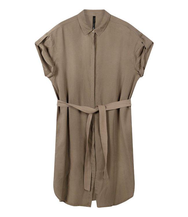 10Days Shirt dress bruin 20-411-0203