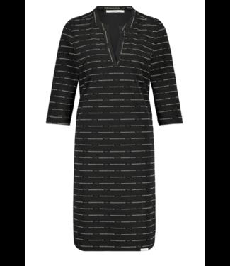 PENN&INK N.Y Dress aop zwart S20M-VERAP