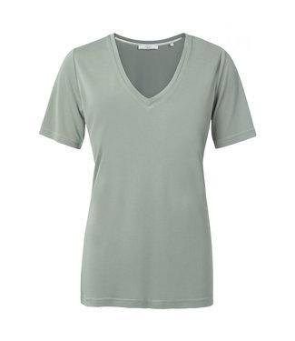 Yaya Modal V-neck T-shirt DUSTY SAGE 1919121-021