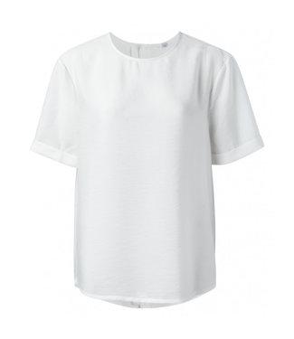 Yaya Modal blend top with buttons BLANC DE BLANC 1901303-021